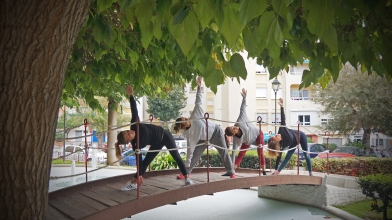 Yoga Estepona - Triangle pose - Trikonosana