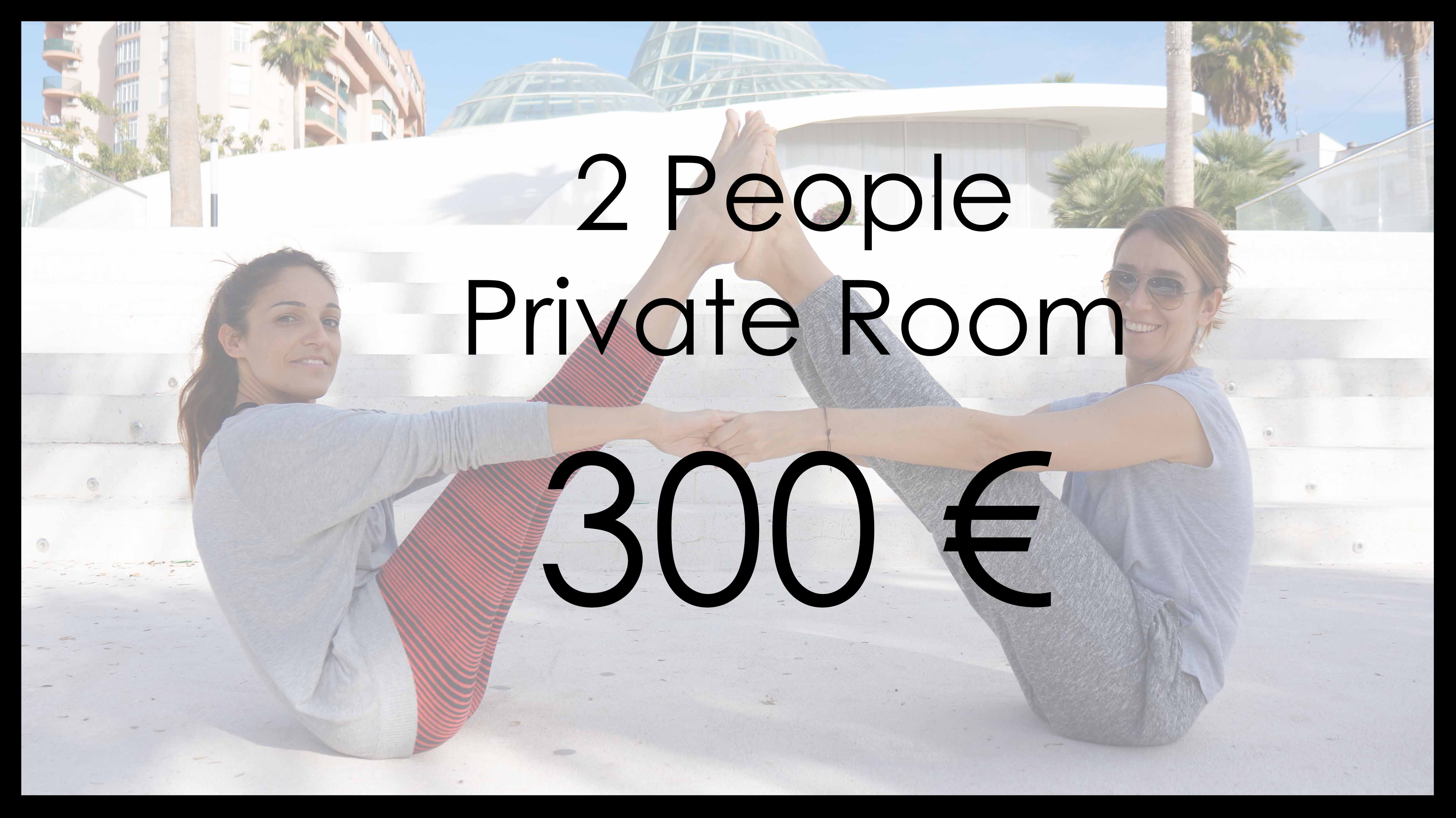 Yoga Retreat for 2 people in a private room